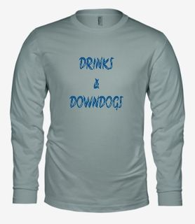 Drinks & Downdogs-Bella Long Sleeve-Athletic Heather.jpg