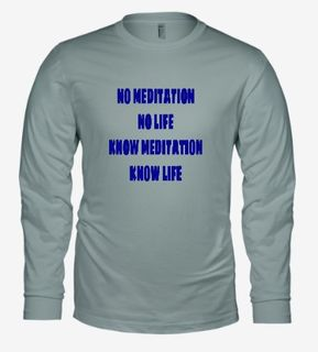 No Meditation-Bella Long Sleeve-Athletic Heather.jpg