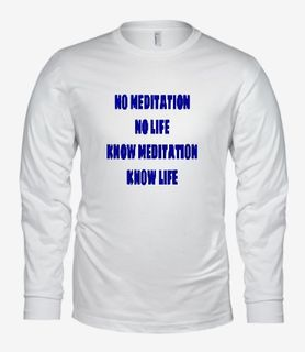 No Meditation-Bella Long Sleeve-White.jpg